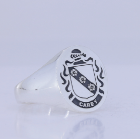 Carey silver crest ring