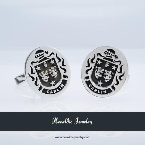 Carlin family crest cufflinks