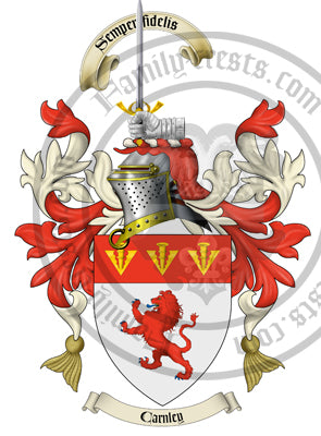 Carnley family crest