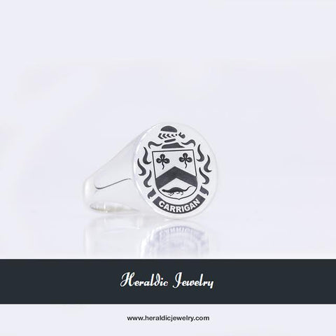 Carrigan family crest ring