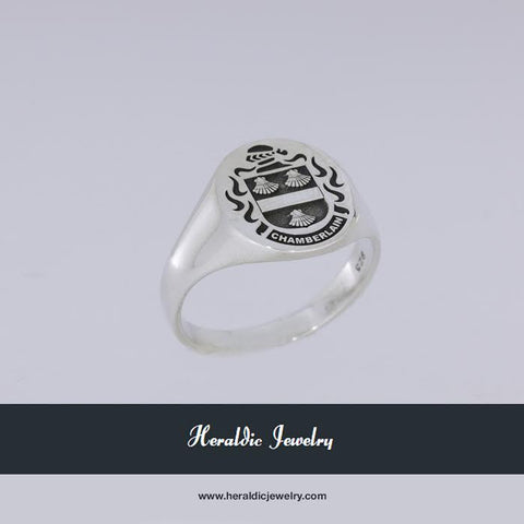 Chamberlain family crest ring