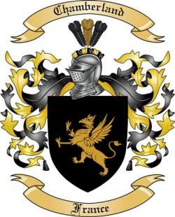 Chamberland family crest