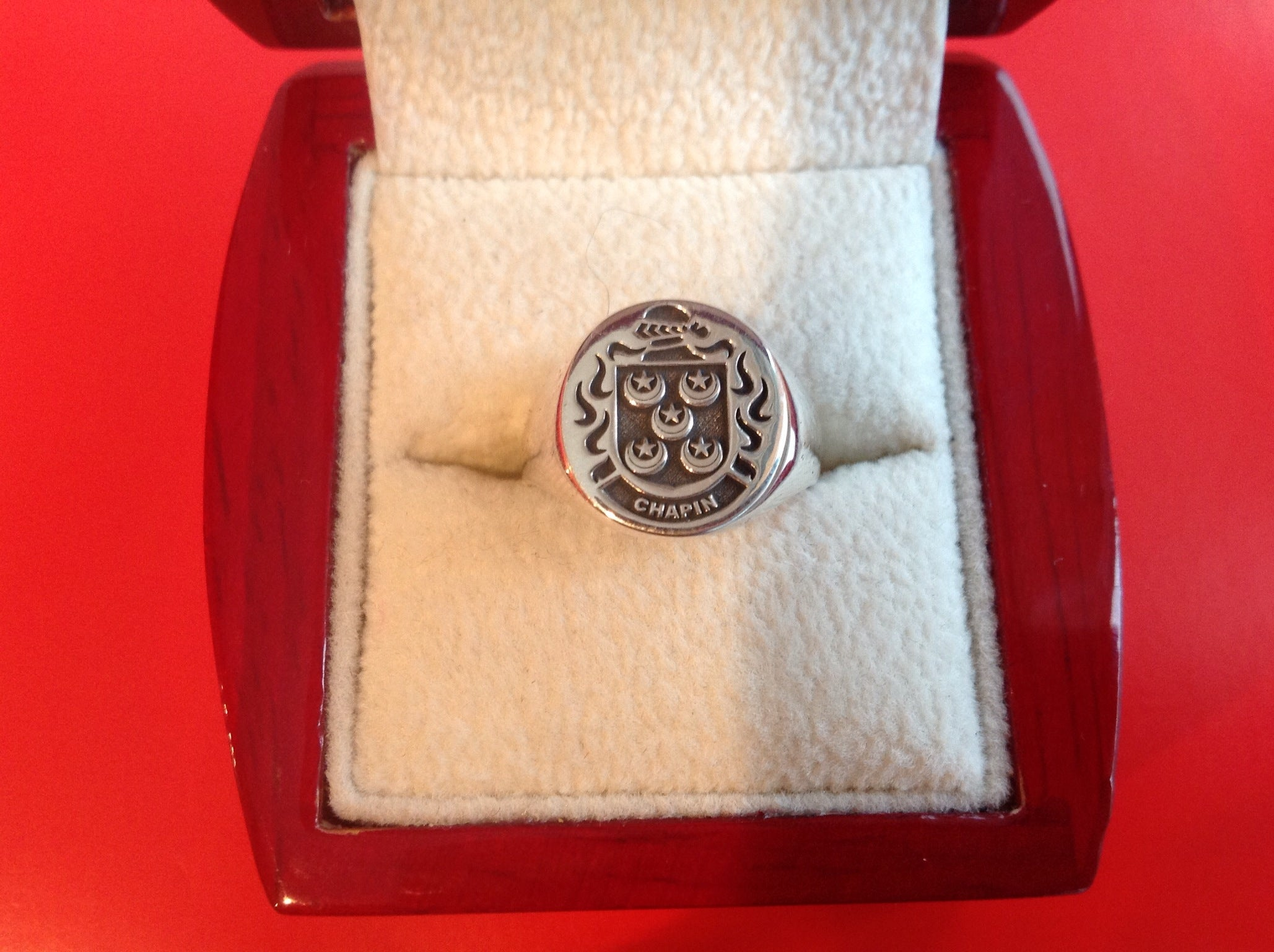 Chapin family crest ring