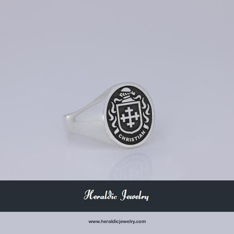Christian family crest ring
