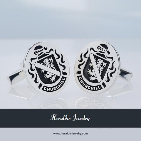 Churchill family crest cufflinks