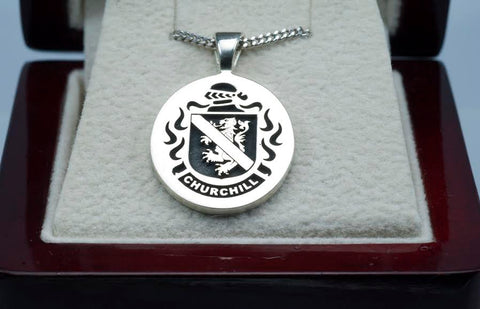 Churchill family crest pendant