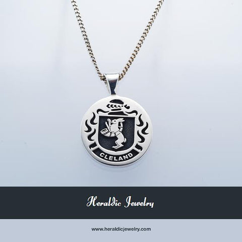 Cleland family crest necklace