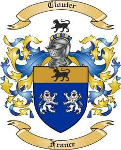 Clouter family crest