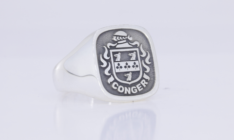 Conger family crest ring