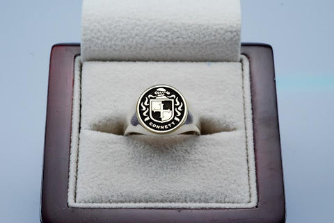 Connett family crest ring