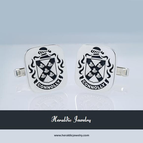 Connolly family crest cufflinks
