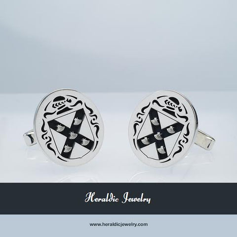 Connelly family crest cufflinks
