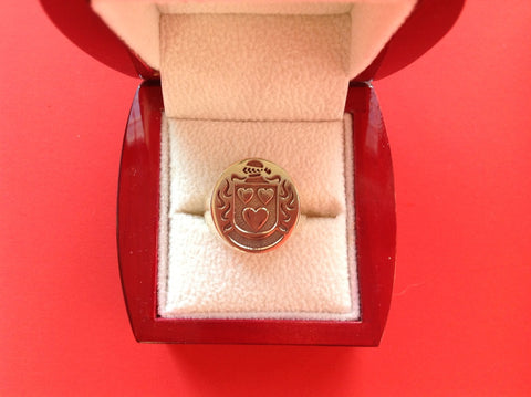 Corfield family crest ring