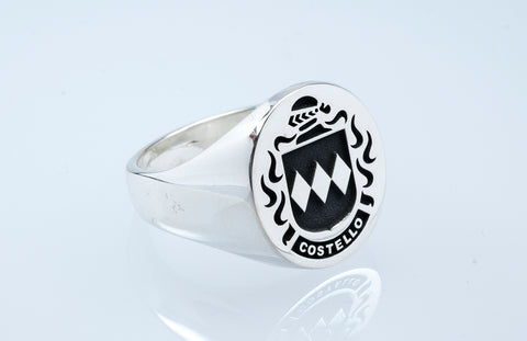 Costello family crest ring