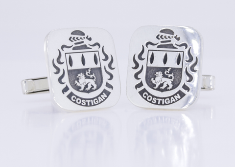 Costigan family crest cufflinks