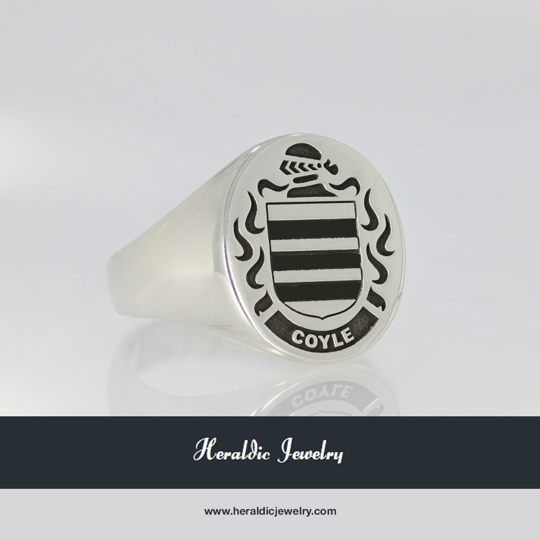 Coyle family crest ring