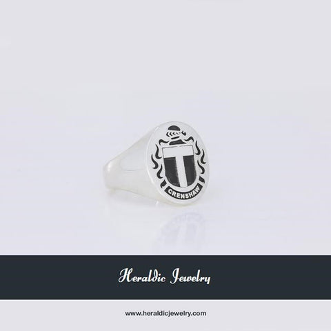 Crenshaw family crest ring