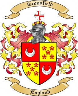 Crossfield family crest