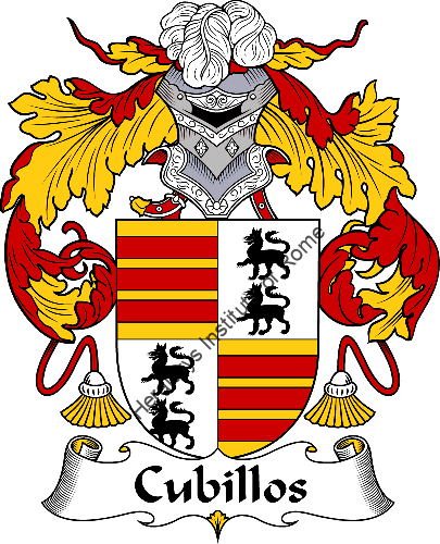 Cubillos family crest