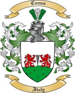 Cuneo family crest