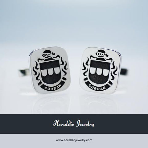 Curran family crest cufflinks