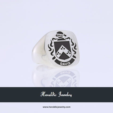 Davis coat of arms ring