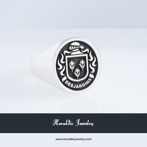 Desjardins family crest ring