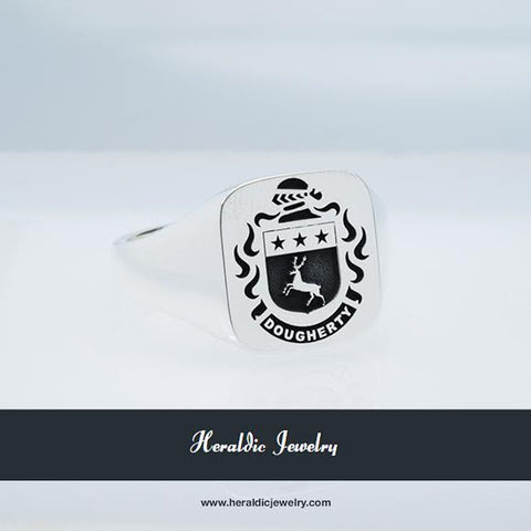 Dougherty Silver family crest ring