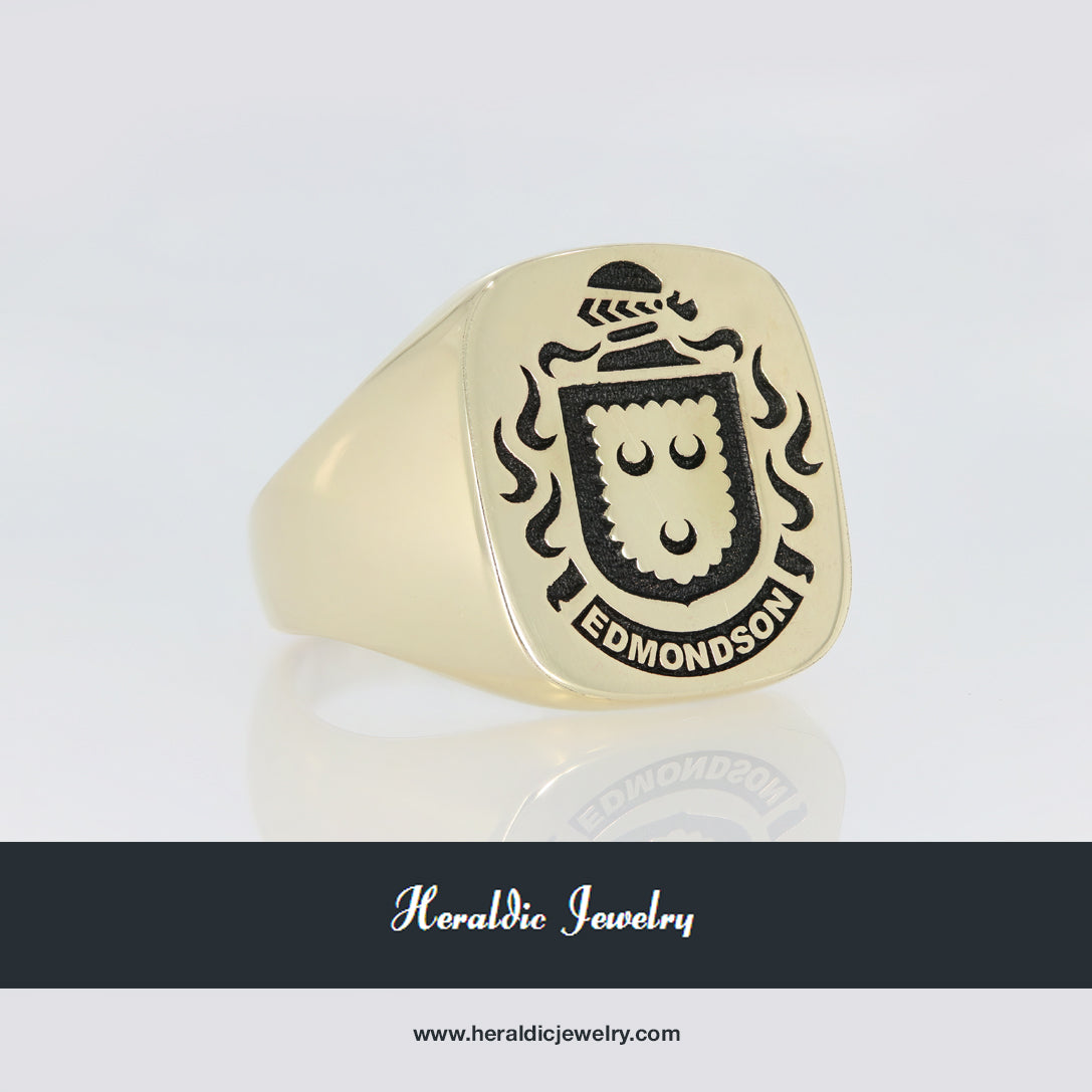 Edmondson coat of arms ring