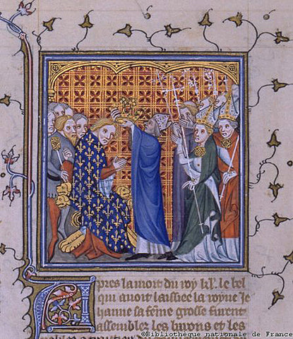 The coronation of Edward III
