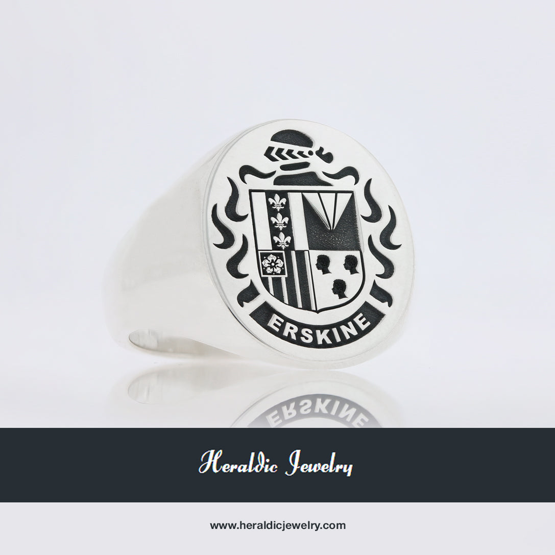 Erskine coat of arms ring