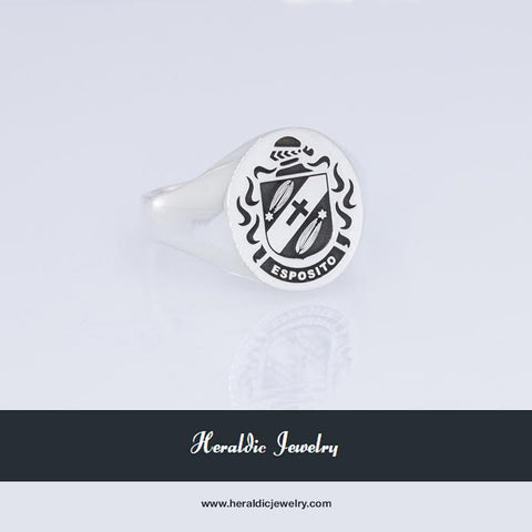 Esposito family crest ring