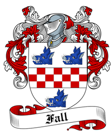 Fall family crest