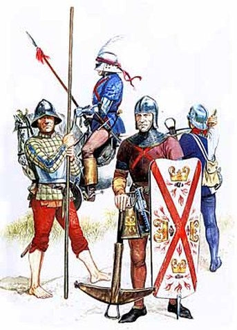 Men at Arms Burgundy 14th Century