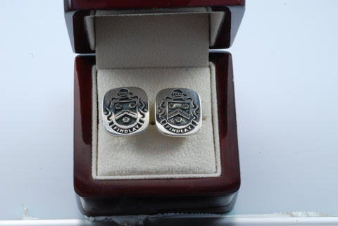 Findlay family crest cufflinks
