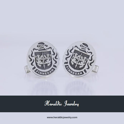Finnegan family crest cufflinks