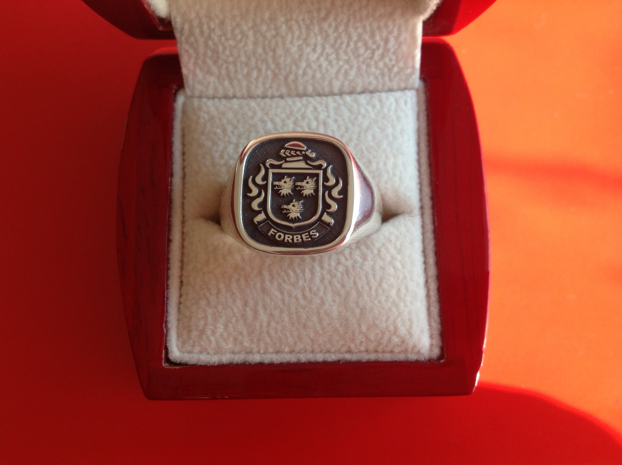 Forbes coat of arms ring
