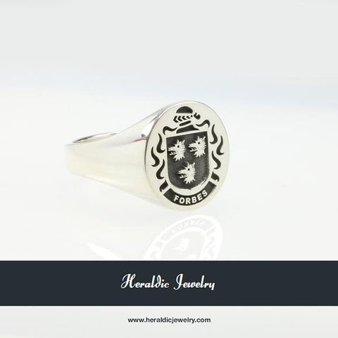 Forbes family crest ring