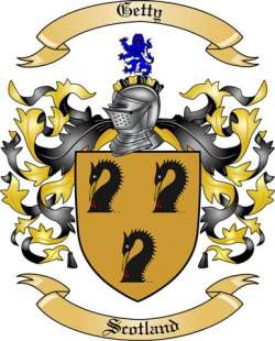 Getty family crest