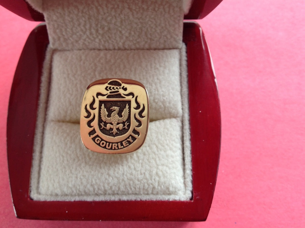 Gourley family crest ring