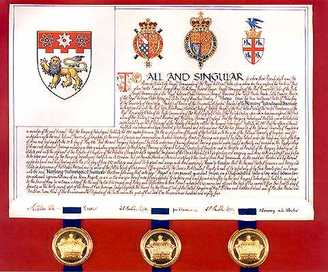 College of Arms grant of Arms