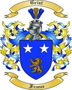 Grist family crest