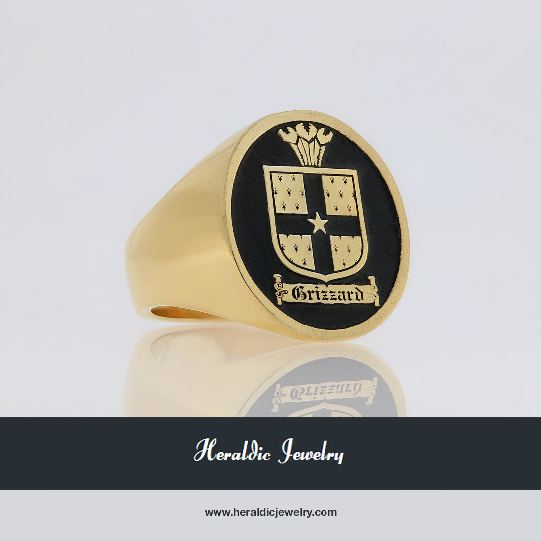 Grizzard family crest ring