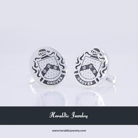 Groves family crest cufflinks
