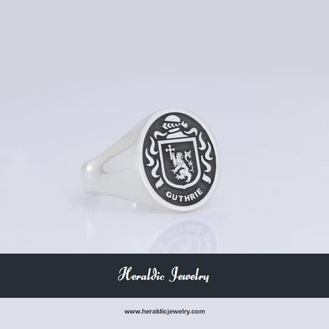 Guthrie family crest ring