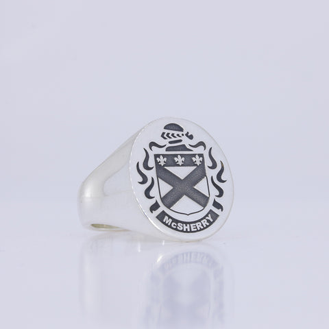 McSherry family crest ring