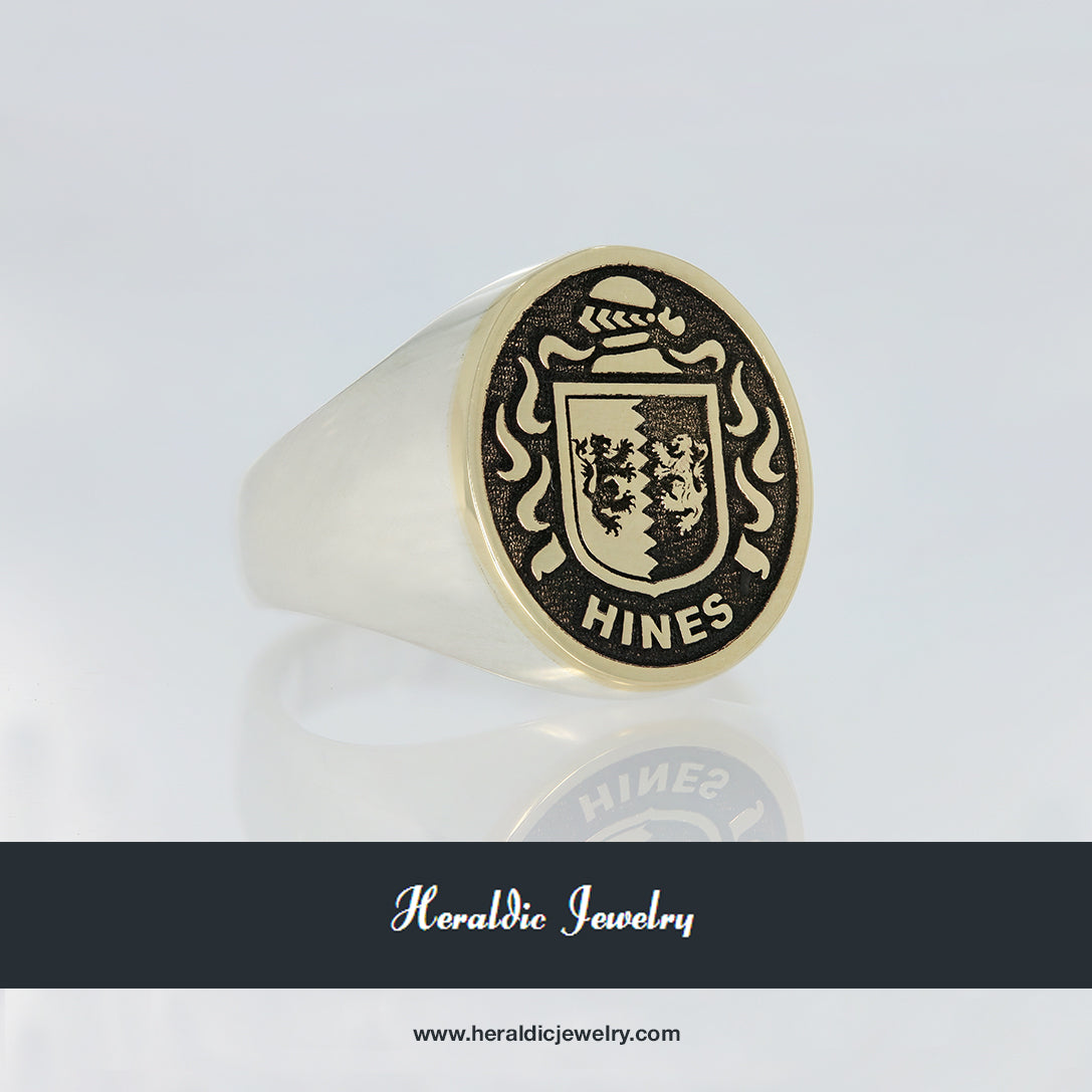Hines family crest ring