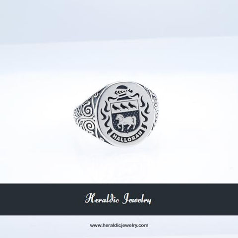 Halloran family crest ring