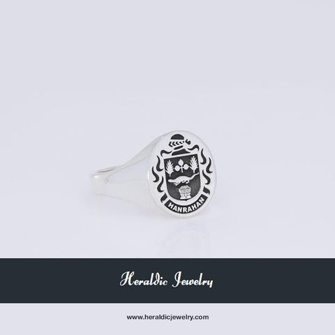 Hanrahan family crest ring