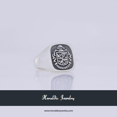 Harkness family crest ring